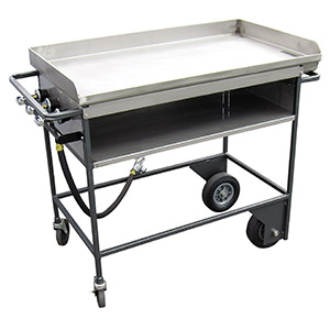 Griddle, black, propane, 3'x30
