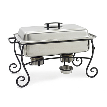 Chafing Dish, black/grey, wrought iron, 12