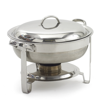 A Chafing Dish, grey, stainless steel, round, 12