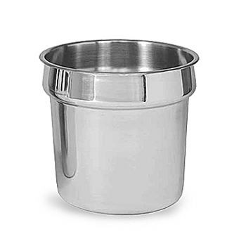Tureen(Soup) Insert, grey, stainless steel, 7qt