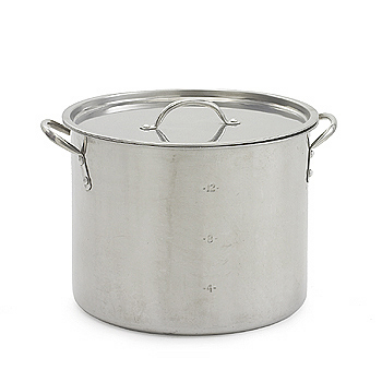 Stock pot, grey, stainless steel, 16qt