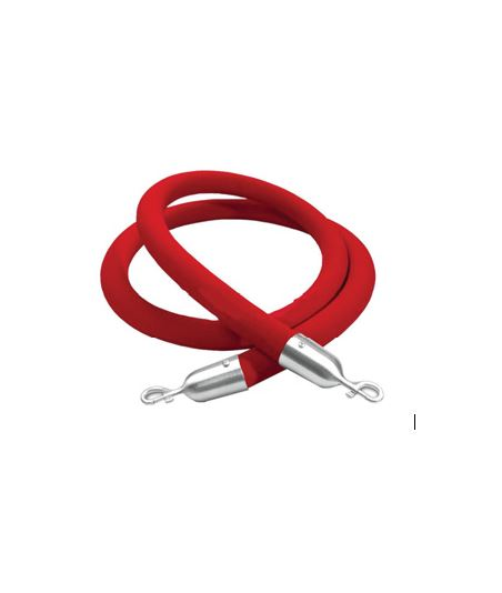 Stanchion Rope, red, 8'