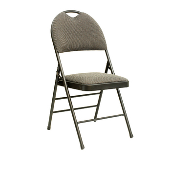 Chair, Padded, black/grey, Folding
