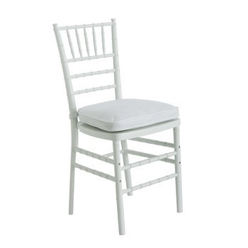 Chairs, Chiavari, white, resin