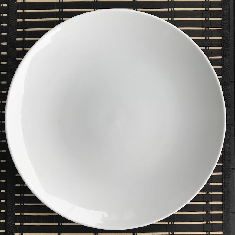 Royal white plate, 12