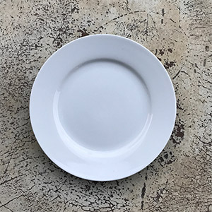 Royal white plate, 8
