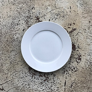 Royal white plate, 6