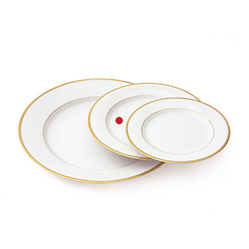 Gold band plate, 8