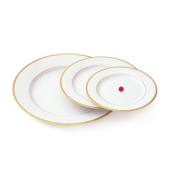 Gold band plate, 6