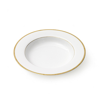 Gold band soup plate, 10