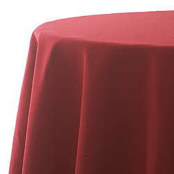 Tablecloth, red, poly, 90