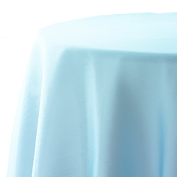 Table Overlay, aqua blue, organza, 72