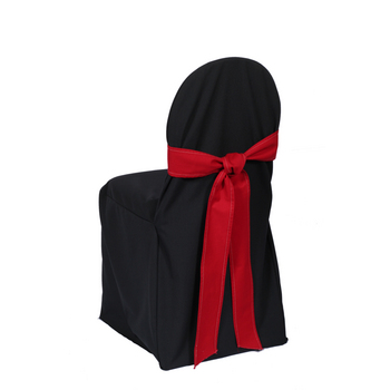 Chair Cover, Banquet, black, poly