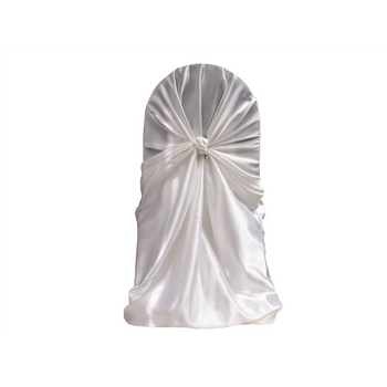 Chair Cover, Wrap, white, satin