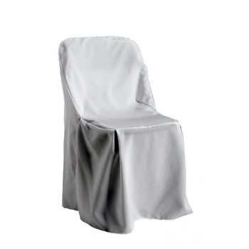 Chair covers, white, poly, Folding Chair Style