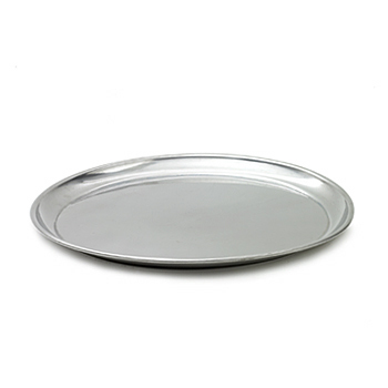 Tray, stainless steel, round, 16
