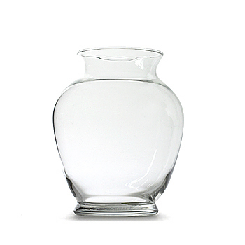 Vase, glass, ginger jar, 6