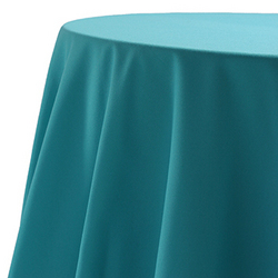Tablecloth, turquoise, poly, 90