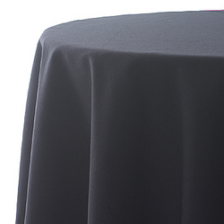 Tablecloth, black, poly, 60