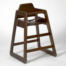 High Chair, natural/brown, wood
