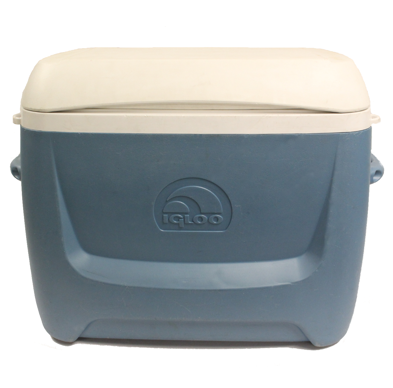 Cooler, 62 Qt  w/Wheels, blue, plastic