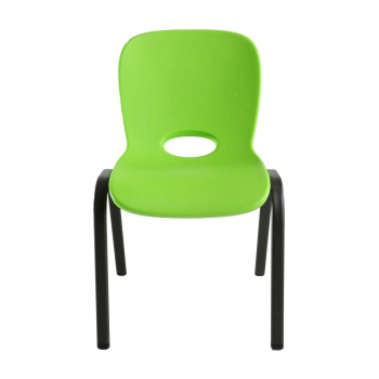 Kids Chair, apple green, plastic,