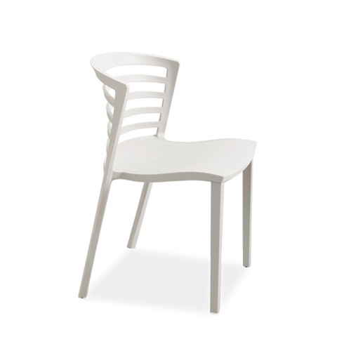 Enigma Chair, white, resin, Stacking