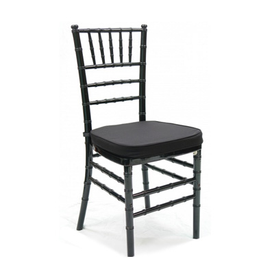 Chairs, Chiavari, black, wood