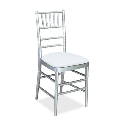 Chairs, Chiavari, silver, wood