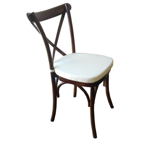 Vineyard Crossback Chair, dark pecan wood, wood, Stacking