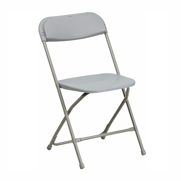 Chair, light grey, plastic, Folding