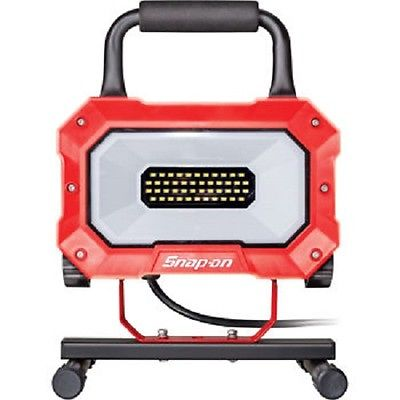 LED Worklight, red, metal, 2700 Lum