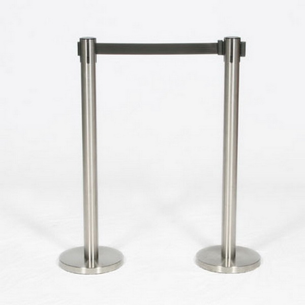 """Stanchion - Retractable, chrome, 39 """" tall"""